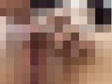 【無修正】デカクリ素人さんの激しい指オナニー